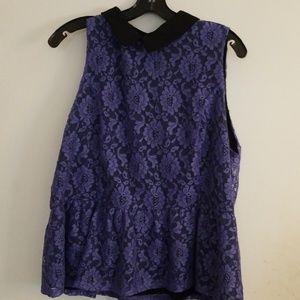 2X Elle Purple Top - Like New